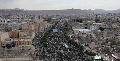 حضور صد ها هزار یمنی در راهپیمایی روز جهانی قدس