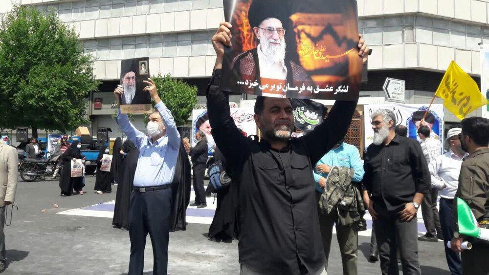 تصاویر/ راهپیمایی خودجوش مردم تهران در روز قدس