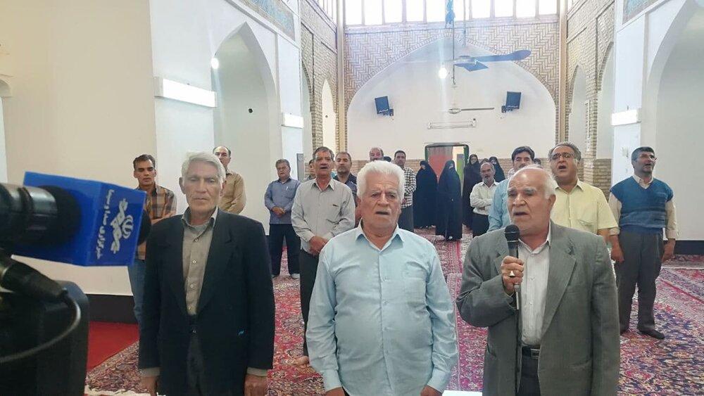 مراسم «الوداع رمضان» در ندوشن یزد برگزار شد