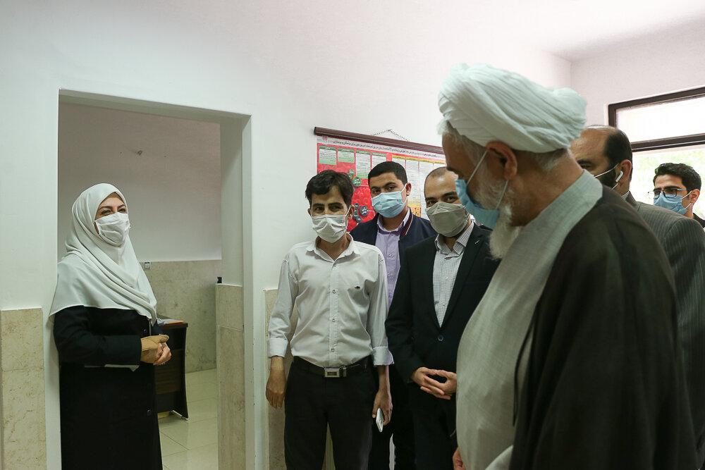 تصاویر/ بازدید امام جمعه قزوین از بخش تالاسمی بیمارستان قدس