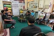 اجرای رزمایش جهادی تبلیغی مدرسه علمیه مشکات کرمانشاه در یک محله محروم