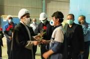 امام جمعه بویین زهرا به میان کارگران رفت