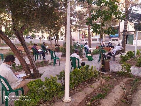محفل قرآنی در فضای سبز