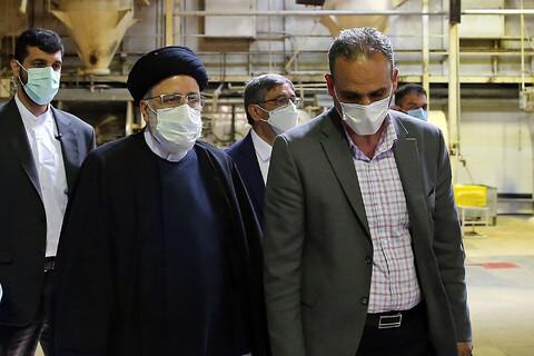 بازدید رئیس قوه قضائیه از کارخانه نیمه تعطیل کیوان