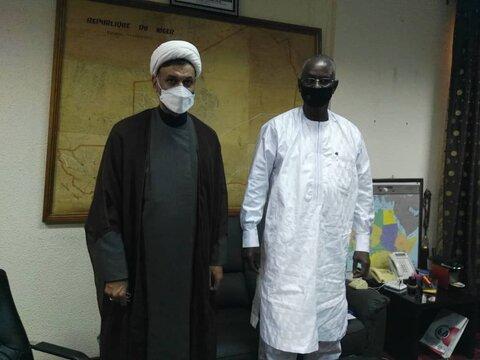 دیدار نماینده جامعه المصطفی در نیجر با وزیر آموزش عالی کشور