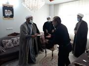 نمایندگان آیت الله اعرافی به منزل طلبه جهادی فقید رفتند