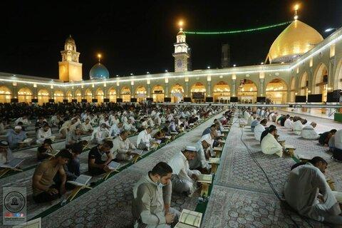 جزء خوانی قرآن کریم در مسجد مقدس کوفه
