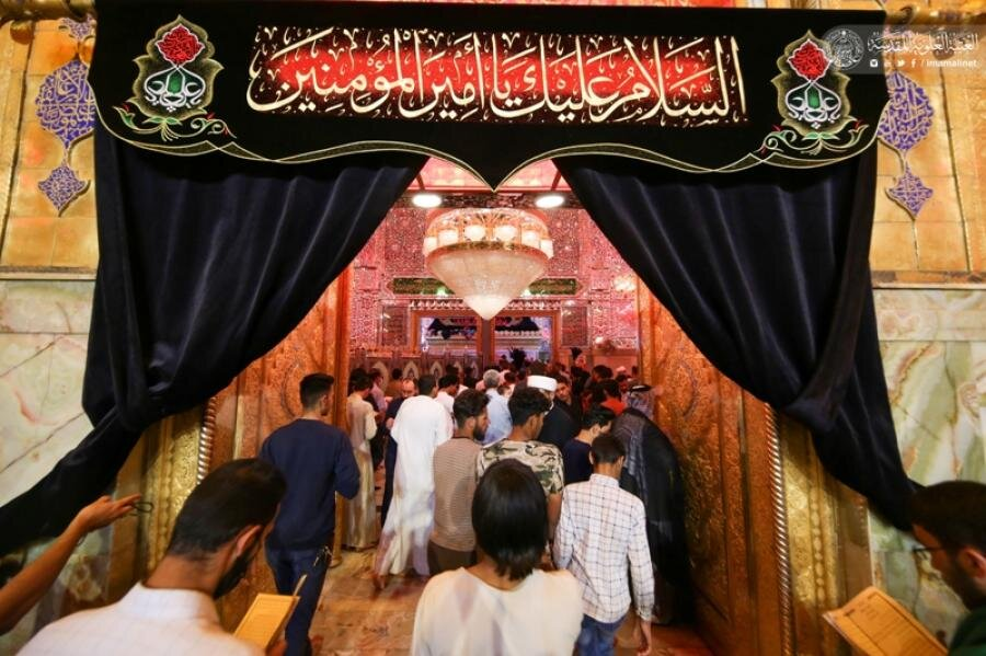 تصاویر/ حال و هوای حرم حضرت امیرالمومنین(ع) در آخرین روز های رمضان
