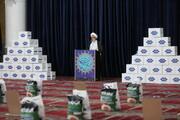 تصاویر/ توزیع و بسته بندی ١٠ هزار بسته معیشتی ستاد اجرایی فرمان حضرت امام در قم