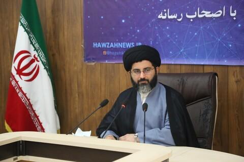 تصاویر/ نشست خبری معاون آموزش حوزه علمیه خوزستان