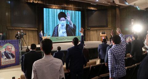 تصاویر/ ارتباط تصویری نمایندگان تشکلهای دانشجویی با رهبر معظم انقلاب