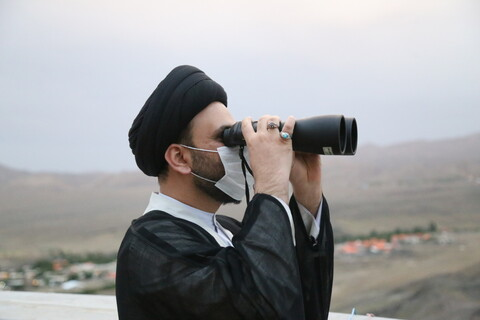 تصاویر / استهلال ماه شوال در رصدخانه امام علی (ع) روستای ویریچ