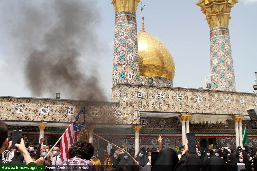 تصاویر | محکومیت اقدامات تروریستی در فلسطین و افعانستان توسط مردم همدان