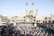 تصاویر/ اقامہ نماز عید الفطر حرم مطہر معصومہ قم (س)