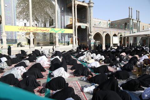 تصاویر / نماز عید سعید فطر درحرم حضرت معصومه (س)