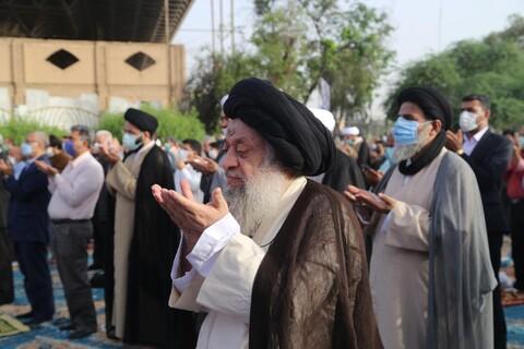 تصاویر/ اقامه نماز عید فطر در اهواز به امامت آیت الله موسوی جزایری