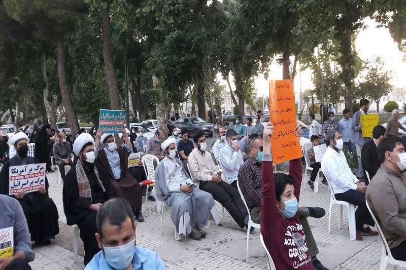 تجمع مردم کرمانشاه در سوگ شهدای افغان و حمایت از مردم فلسطین+عکس