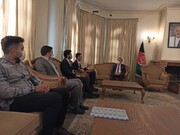 حضور اعضای جمعیت فرهنگیان جوان تهران در سفارت افغانستان