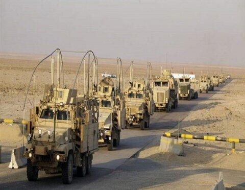 عراق میں امریکی فوجی رسد کے قافلہ کے راستہ میں دھماکہ