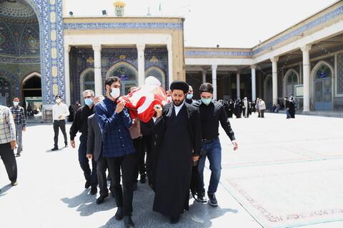 تصاویر / مراسم تشییع حجت الاسلام والمسلمین علی شیخالاسلامی، چهره ماندگار و درخشان ادب فارسی