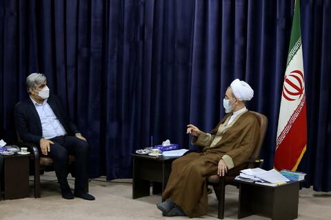 تصاویر/ دیدار مدیرعامل سازمان تامین اجتماعی با آیت الله اعرافی