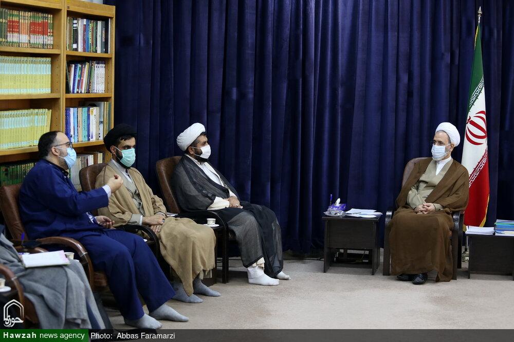تصاویر/ دیدار اعضای ستاد راهبری امر به معروف و نهی از منکر با آیت الله اعرافی