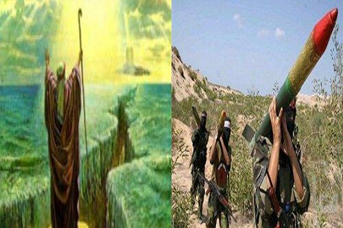 موشک های مبارزان فلسطینی گنبد آهنین صهیونیست ها را فرو ریخت