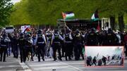 ڈنمارک میں مظلوم فلسطینی عوام کی حمایت میں مظاہرہ و پولیس کا مظاہرین پر حملہ