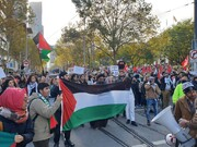 میلبورن میں مولانا ابوالقاسم رضوی کی قیادت میں فلسطینیوں پر اسرائیلی جارحیت کے خلاف احتجاجی مظاہرہ