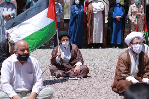 اعلام انزجار طلاب و دانشجویان از اسرائیل کودک کش در حوزه علمیه امیرالمومنین(ع) بیرجند