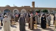 تصاویر/ تجمع طلاب و روحانیون یزدی در حمایت از مردم فلسطین و افغانستان