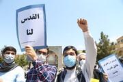 تصاویر/ تجمع طلاب و روحانیون در حمایت از ملت مظلوم فلسطین و محکومیت حادثه تروریستی افغانستان-۲