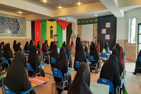 تصاویر/ تجمع طلاب و اساتید مدارس علمیه خواهران ارومیه در حمایت از مردم مظلوم فلسطین