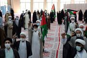 تصاویر/ تجمع طلاب و روحانیون خراسان شمالی در حمایت از مردم مظلوم فلسطین و افغانستان