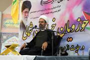 تجمع حوزویان خراسان شمالی در حمایت از فلسطین | نوری: مقاومت تنها راه امت اسلام در برابر رژیم صهیونیستی است