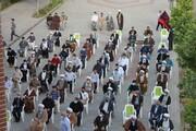 تصاویر/ تجمع طلاب و روحانیون خوی در حمایت از مردم غزه و افغانستان