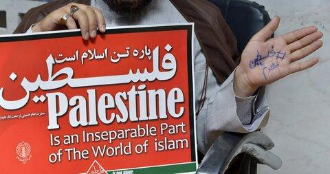 مراسم اعلام انزجار حوزویان خراسان از جنایات استکبار جهانی و رژیم صهیونیستی نسبت به فلسطین و افغانستان