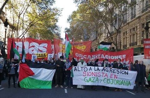 تظاهرات در حمایت فلسطین