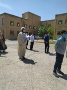 تصاویر/ تجمع طلاب و روحانیون قروه در محکومیت جنایات صیهونیستها