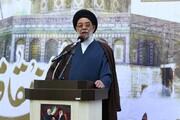 تجمع حوزویان اصفهان در حمایت از فلسطین   طباطبایی نژاد: صهیونیست ها دنبال سوراخ موش می گردند