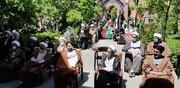 تصاویر شما/ تجمع طلاب و روحانیون اردبیل در حمایت از مردم مظلوم فلسطین و افغانستان