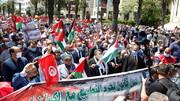 مظاهرات حاشدة تضامنا مع فلسطين ولمطالبة البرلمان بالتصديق على قانون تجريم التطبيع مع اسرائيل