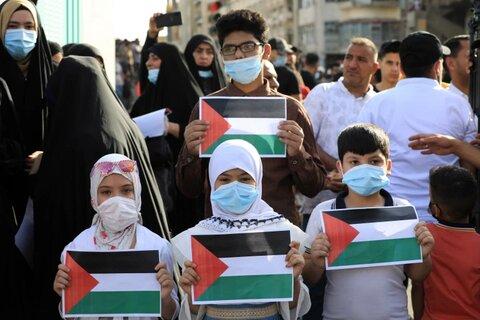 حضور عراقی ها در مرز اردن برای حمایت از فلسطین