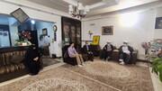 تصاویر/ دیدار نمایندگان آیت الله اعرافی با خانواده شهید محمد خرسند