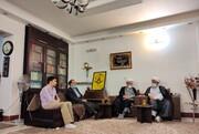 حضور نمایندگان آیت الله اعرافی در منزل امام جمعه شهید کازرون