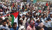 برگزاری راهپیمایی در شهر های یمن به مناسبت پیروزی مقاومت فلسطین +تصاویر