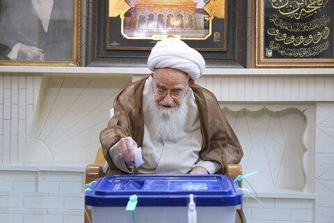 شرکت آیت الله العظمی صافی در انتخابات