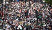 مسيرات حاشدة بعواصم ومدن غربية دعما للفلسطينيين وتنديدا بكيان'اسرائيل'