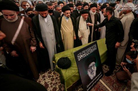 تشييع جثمان السيد عبد الأمير الحكيم في رحاب مرقد أمير المؤمنين (ع)