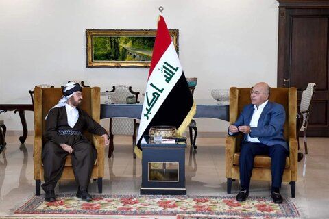 برهم صالح و شیخ علی قره داغی